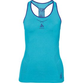 Odlo W's Ceramicool Seamless Singlet Crew Neck blue radiance-spectrum blue